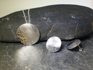Reflections on the Sea Disc Pendant - Lucy Symons Jewellery