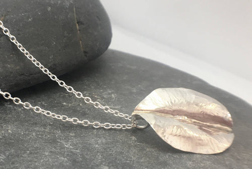 Leaf pendant - Lucy Symons Jewellery
