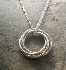 Entwined Ring Pendant - Lucy Symons Jewellery