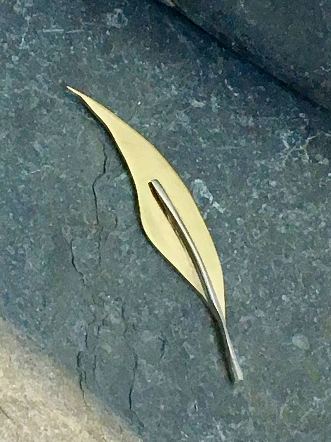 Golden Feather Lapel Pin - Lucy Symons Jewellery