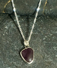 Load image into Gallery viewer, Purple Sapphire Pendant - Lucy Symons Jewellery