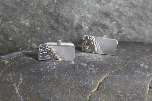 Reflections on the Sea Rectangular Cufflinks - Lucy Symons Jewellery