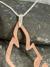 Load image into Gallery viewer, Copper Feather Long Pendant - Lucy Symons Jewellery