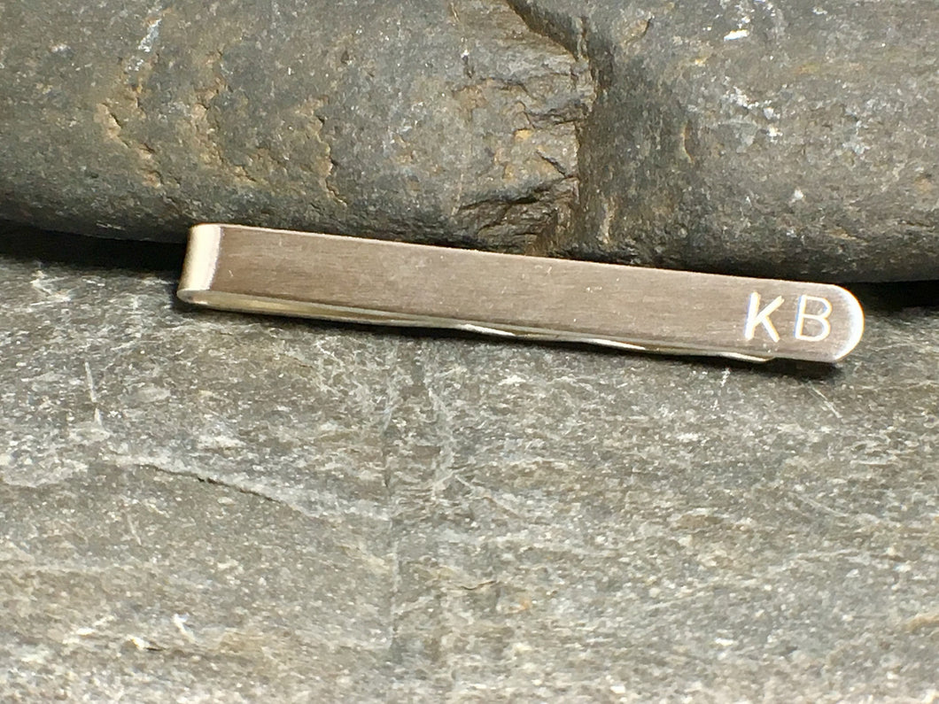 Personalised Tie Clip - Lucy Symons Jewellery