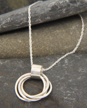 Load image into Gallery viewer, Entwined Ring Statement Necklace - Lucy Symons Jewellery