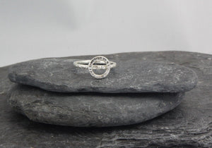 Hammered Circle Ring - Lucy Symons Jewellery