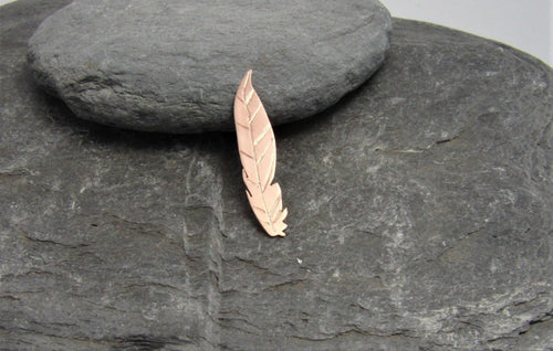 Copper Feather Lapel Pin - Lucy Symons Jewellery