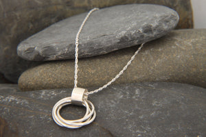 Entwined Ring Statement Necklace - Lucy Symons Jewellery