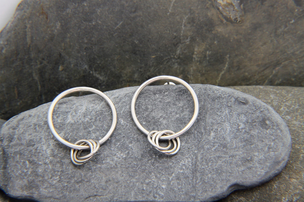Entwined Rings Earrings - Lucy Symons Jewellery