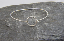 Load image into Gallery viewer, Hammered Circle Clasp Bangle - Lucy Symons Jewellery
