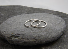 Load image into Gallery viewer, Hammered Skinny Stacking Ring - Lucy Symons Jewellery