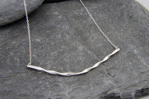 Rolling Waves Bar Necklace - Lucy Symons Jewellery