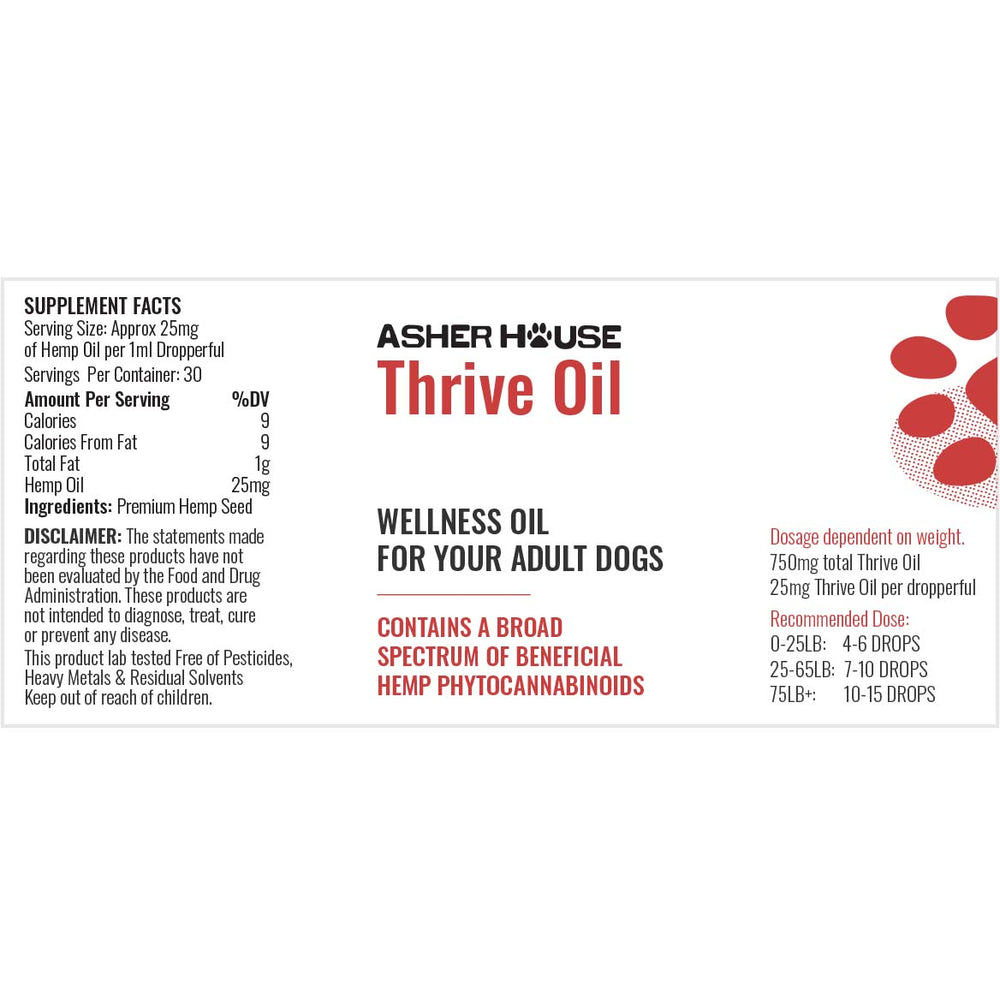 1oz Asher House Thrive CBD oil - Subscription
