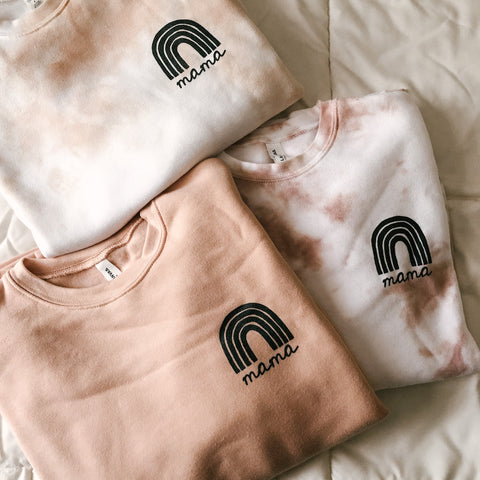 Peach Rainbow Mama Sweatshirt