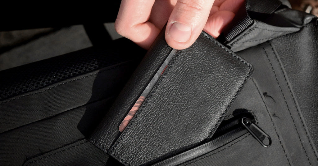 Compact wallet out of pocket