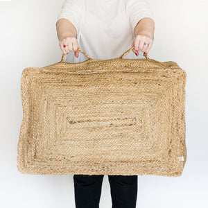 Braided Jute Floor Cushion