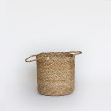 Load image into Gallery viewer, Natural Plain Jute Basket with Handles