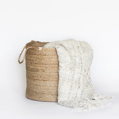 Recycled Linen Throw