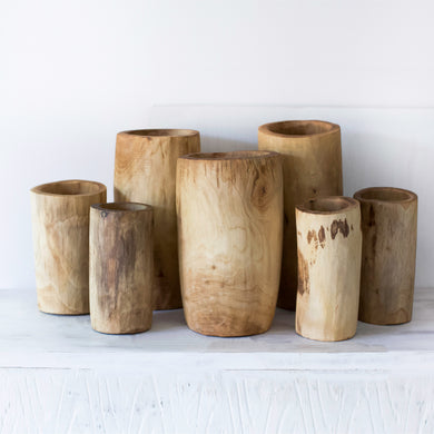 Hand Carved Vases (med & large)