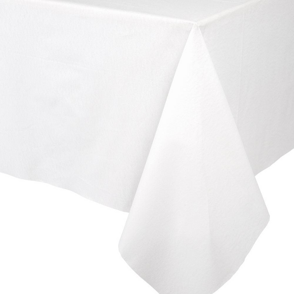 Paper Linen Solid Table Cover - White