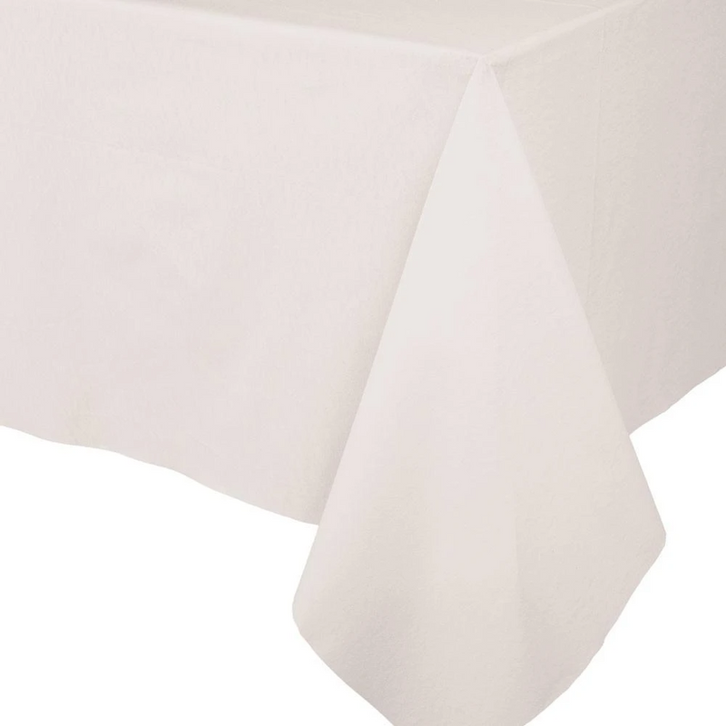 Paper Linen Solid Table Cover - Ivory