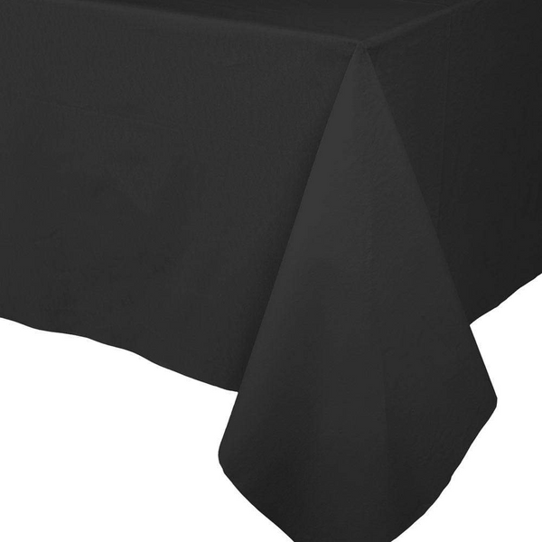 Paper Linen Solid Table Cover - Black