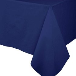 Paper Linen Solid Table Cover - Navy Blue