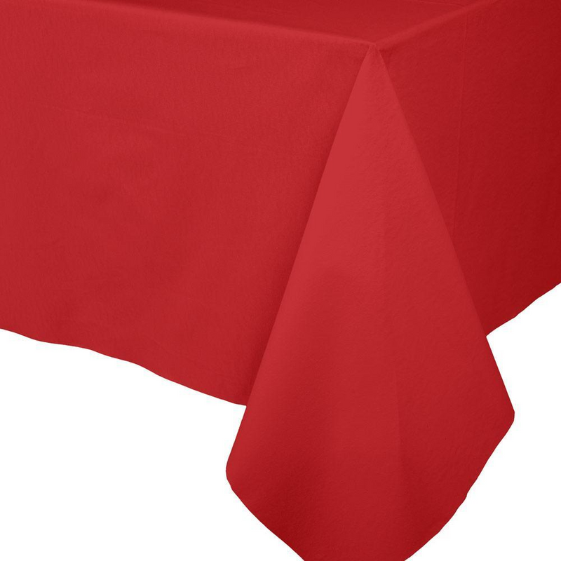 Paper Linen Solid Table Cover - Red