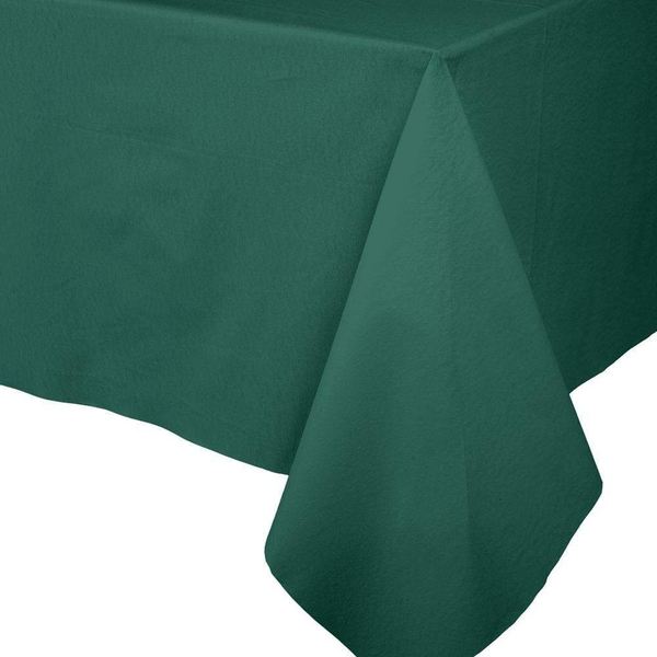 Paper Linen Solid Table Cover - Hunter Green