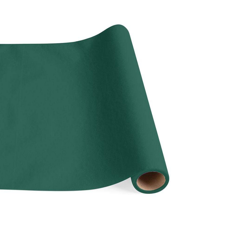 Paper Linen Solid Table Runner - Hunter Green
