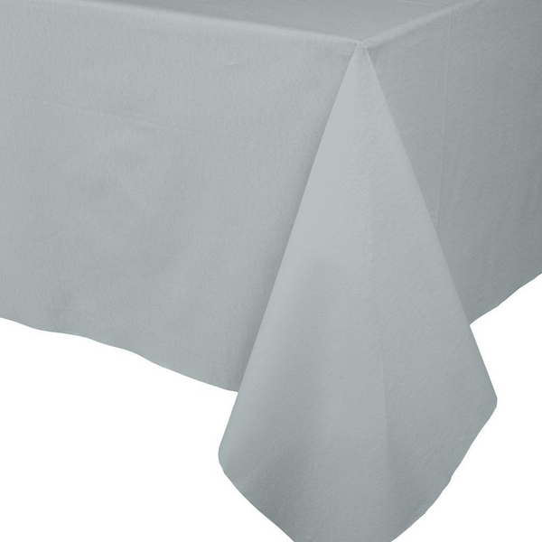 Paper Linen Solid Table Cover - Silver