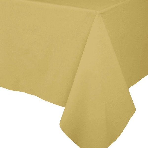 Paper Linen Solid Table Cover - Gold