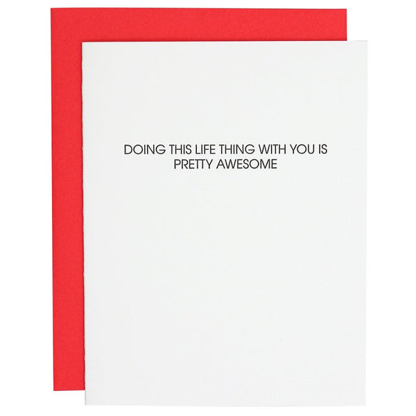 Doing Life With You Letterpress Card