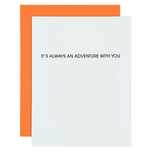 Always An Adventure With You Letterpress Card