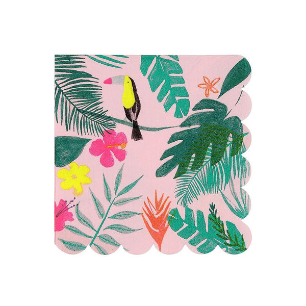 Pink Tropical Napkins - Small