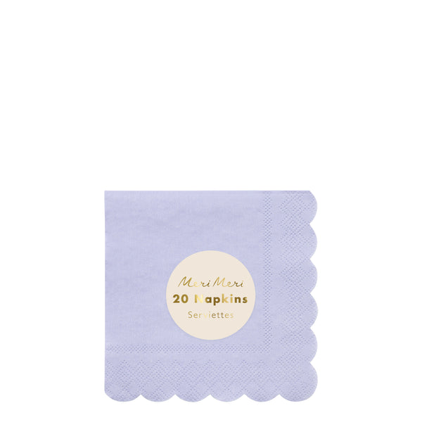 Pale Blue Cocktail Napkins