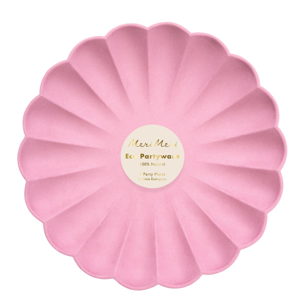 Deep Pink Simply Eco Plates - Large