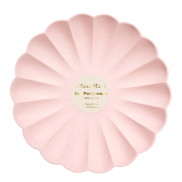 Pale Pink Simply Eco Plates - Large
