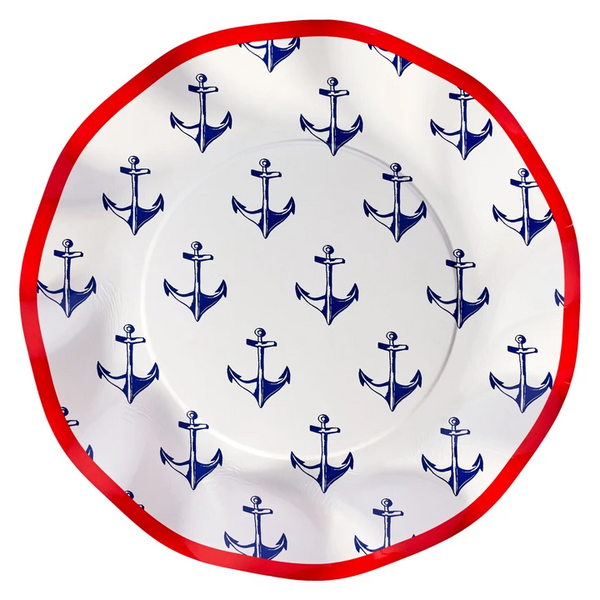 By the Sea by Molly Hatch Wavy Paper Salad Plate