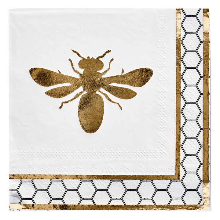 Honeybee Paper Cocktail Napkin