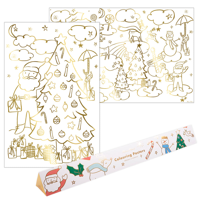 Christmas Coloring Posters