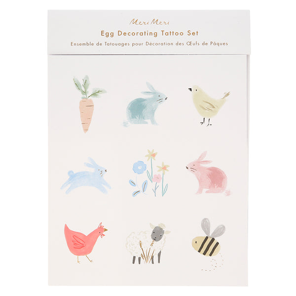 Spring Bunny Egg Decorating Tattoo Kit