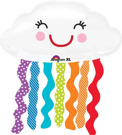 Smiling Rainbow Cloud Balloon