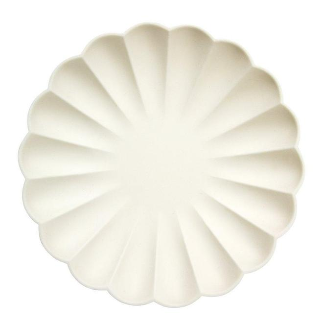 Cream Simply Eco Plates - Large