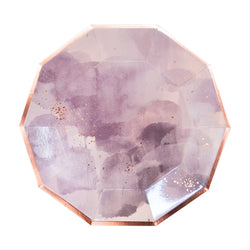 Amethyst - Light Purple Watercolor Large Paper Plates