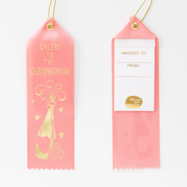 Cheers to the Champagnion - Award Ribbon Card