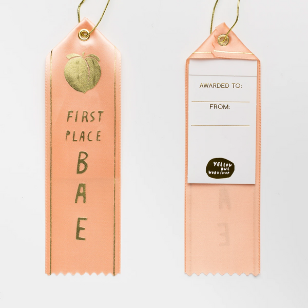 First Place Bae - Award Ribbon Card