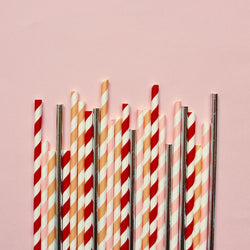 Peachy Vibes Paper Straws - Mixed Pack
