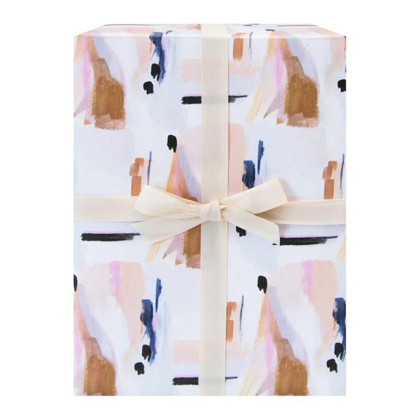 Blue Abstract Gift Wrap