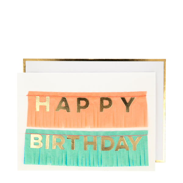 Birthday Fringe Garland Card